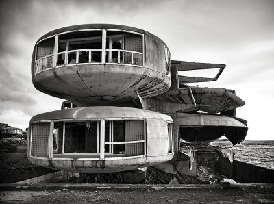 steel curved futuristic house